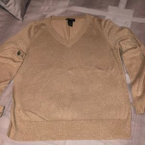 Women's V neck sweater